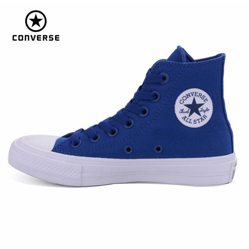 Новый Converse Зажимы Taylor All Star Ii High Мужские Женские парусиновые кроссовки Обувь классический чистый цвет Обувь для скейтбординга 150143c