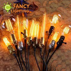 1 pc lâmpada Retro E27/E14 Edison lâmpada 110 V/220 V lâmpada Incandescente para casa/Sala de estar decoração do quarto do vintage lâmpada de Filamento 40 W Ampola