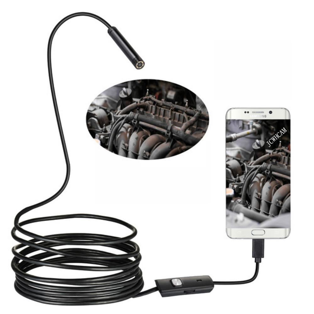 8/7/5.5mm lentille 1M 2M 3.5M 5M fil 720P USB Android Endoscope caméra d'inspection Endoscope lumière LED étanche Android Endoscope
