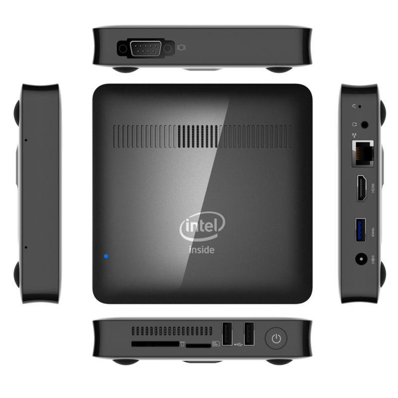 WooYi T7 MINI PC Intel Atom Z8350 1.92GHz 2GB RAM 32GB ROM windows 10 Bluetooth 4.0 4K 5.8GHz WiFi 1000M LAN win10 Smart TV Box