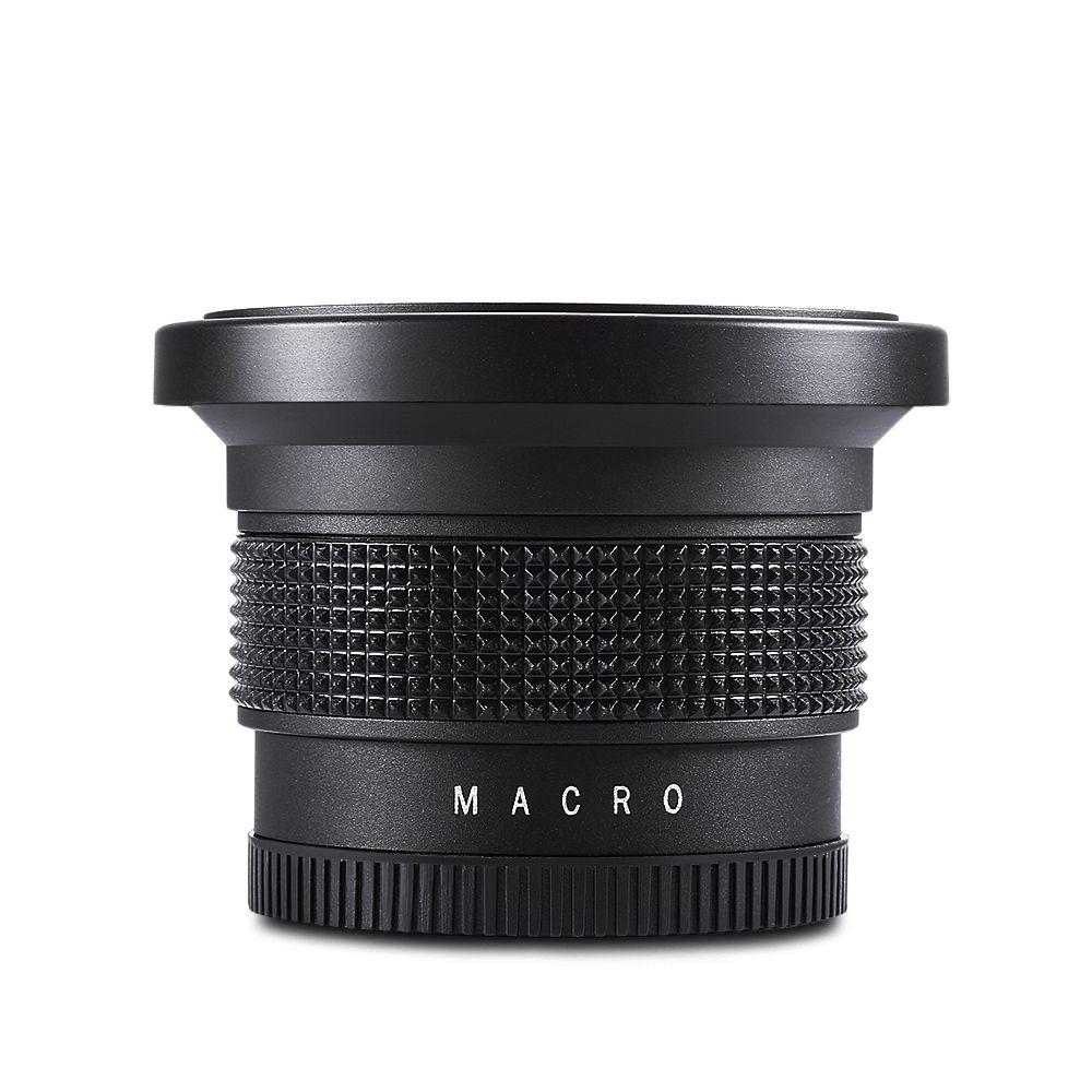 Lightdow 58mm 0.35X Oeil de Poisson Super Grand Angle Objectif Fisheye pour Canon Nikon Sony DSLR