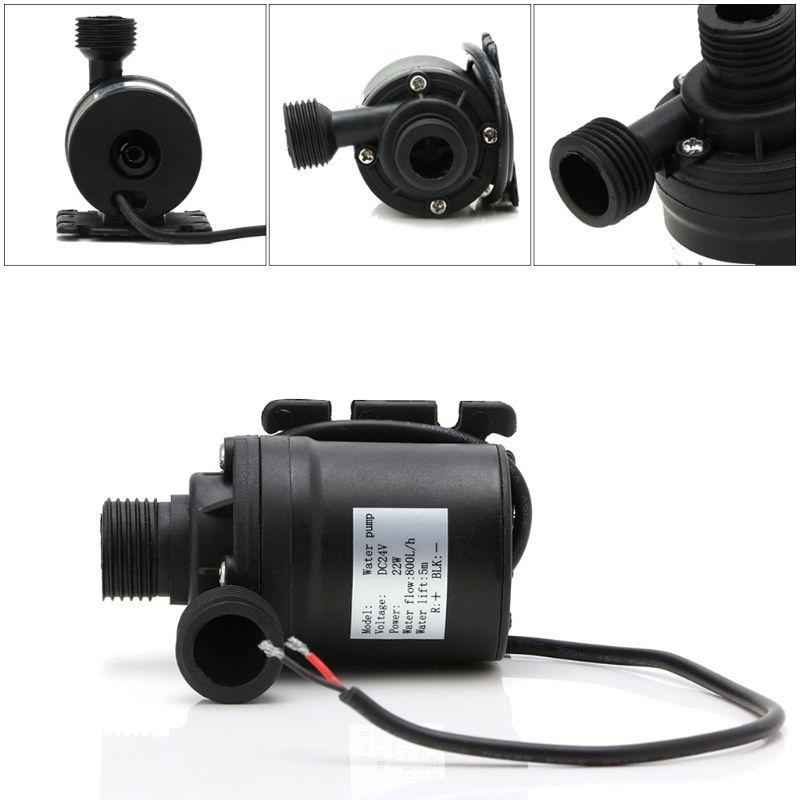 800L/H 5 m DC 12 V 24 V solaire Brushless moteur pompe à eau de Circulation d'eau 1/2 mâle thead 6.5 cm (D) x 8 cm (H) solaire pompe à eau