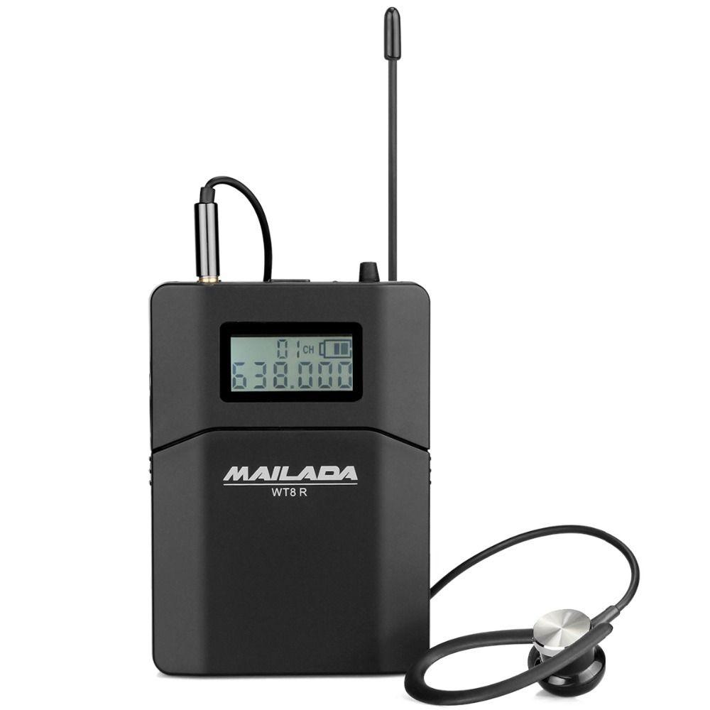 MAILADA WT8-R Wireless Receiver UHF Tour Guide system for Church Translation Teaching Travel Simultaneous Interpretation F1433