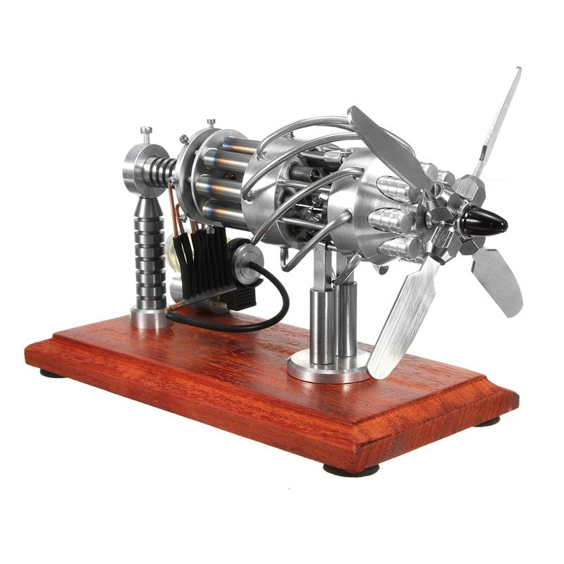 16 Cylinder Hot Air Stirling Engine Motor Model Creation Motor Toy External Combustion High Efficiency Children Educational