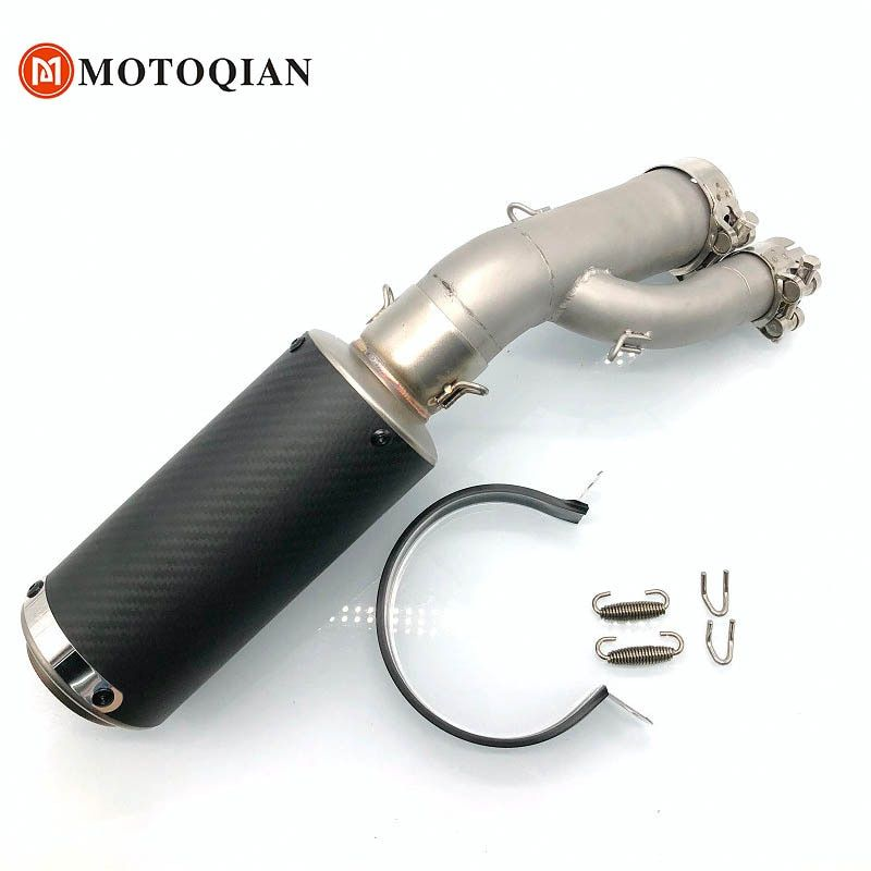 For BMW S1000R S1000RR 2017 2018 Muffler Pipe with the connection Exhaust Carbon fiber Motorcycle Accessories Motorbike Parts
