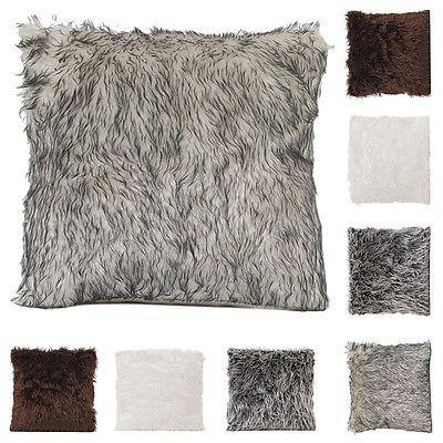 Manmade Fur Fashion Soft Fur Square Throw Pillow Cases Home Decor Sofa Waist Cushion Cover