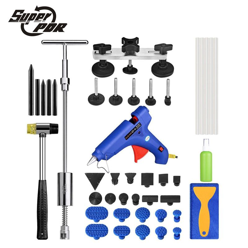 PDR Auto Body Paintless Dent Removal Repair Tools Kits Bridge puller Slide Hammer Glue Puller Automotive Door Ding Dent