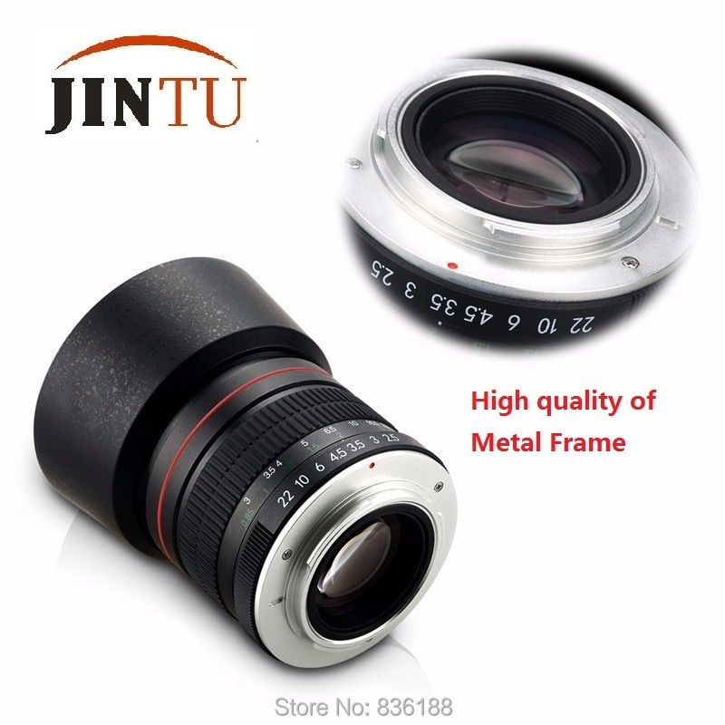 JINTU 85mm f/1.8 Portrait Aspherical Telephoto Lens for Nikon D5400 D750 D610 D5 D4 D4S D7200 D810 D800 DSLR Camera