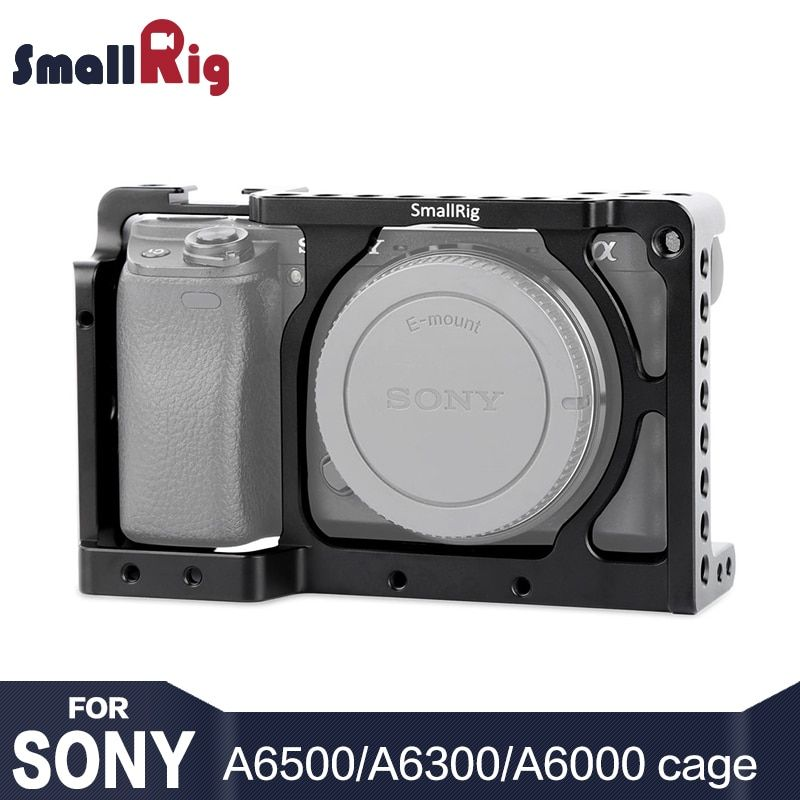 Stabilisateur de Cage de caméra SmallRig A6300 pour Sony A6300/pour appareil photo Sony A6000/Nex-7 avec trous de filetage pour montage sur chaussures pour bricolage
