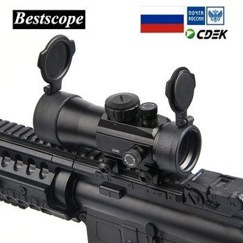 Бу 2x40 зеленый красный точечный прицел тактическая оптика Riflescope Fit Picatinny Rail Mount 20 мм 11 мм винтовки для охоты
