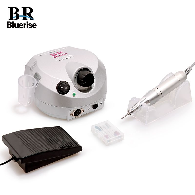 Electric Nail Drill Machine Manicure Pedicure Set 35000 rpm Nail Art Equipment Accessory Nail Drill Bits Foot Pedal Handle Stand