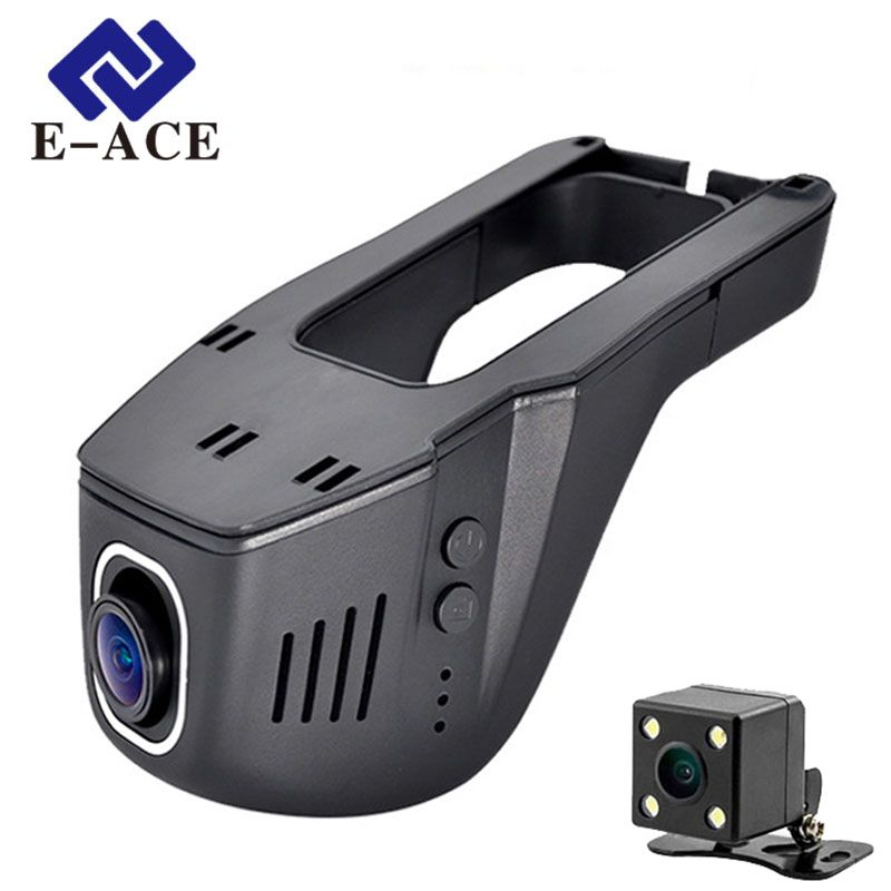 E-ACE Hidden Mini Wifi Camera Car Dvr Dual Lens Auto Video Recorder Dashcam <font><b>Registrator</b></font> DVRs Dash Cams Full HD 1080P Nigh Vision