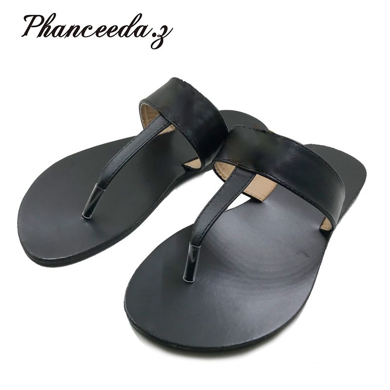New 2019 Casual Shoes Women Sandals Summer Style Fashion Flip Flops Good Quality Flats Solid Sandal Slippers Size 6-10