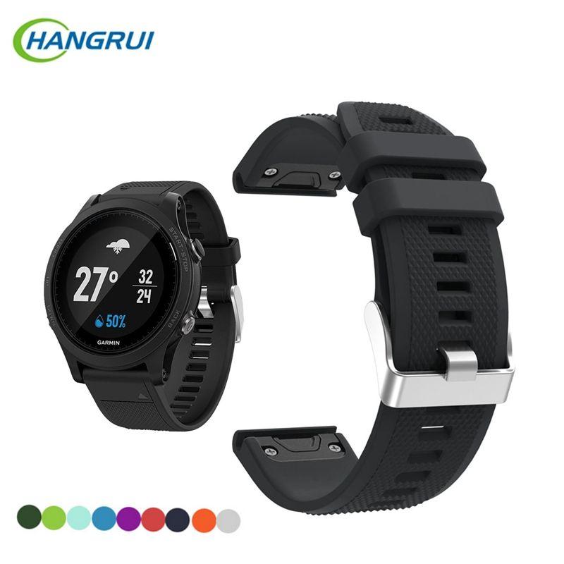 HANGRUI Doux Bracelet En Silicone Pour Garmin Fenix 5 Sprot Montre Smart Watch Bande Remplacement Bracelet Portable accessoires Pour Fenix5