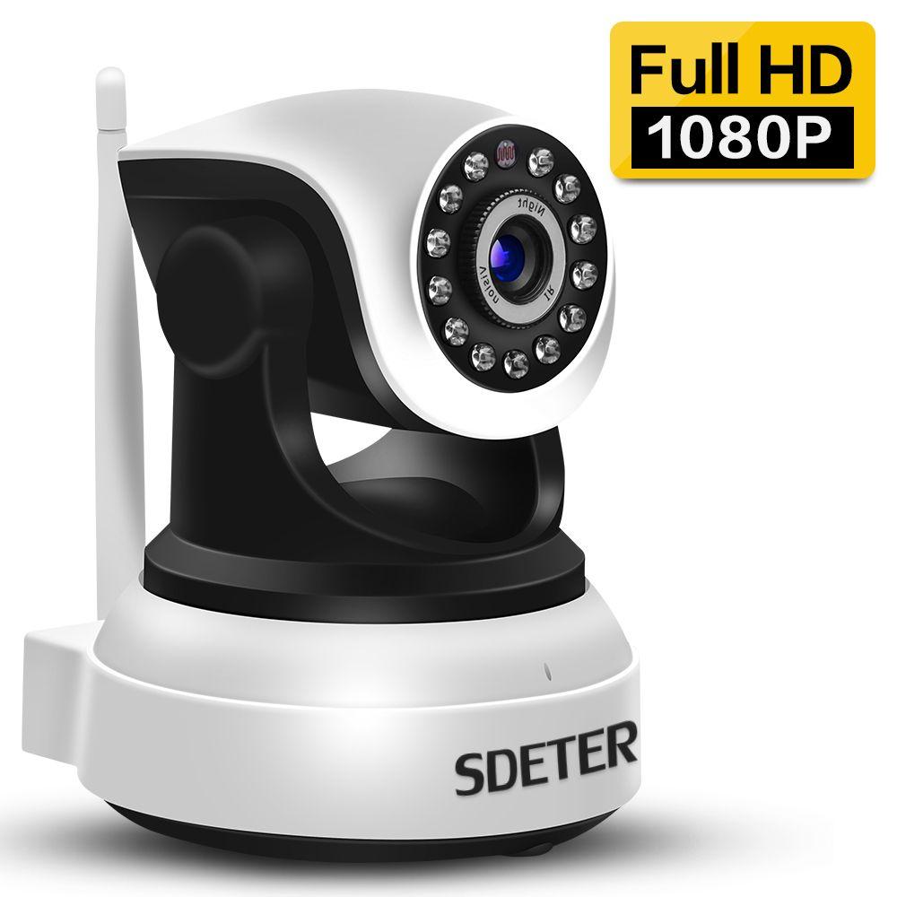 SDETER 1080 P 720 P Wifi Caméra de Sécurité IP Caméra Alarme À La Maison Surveillance Caméra IR Nuit Vision Baby Monitor Onvif Deux Façon Audio
