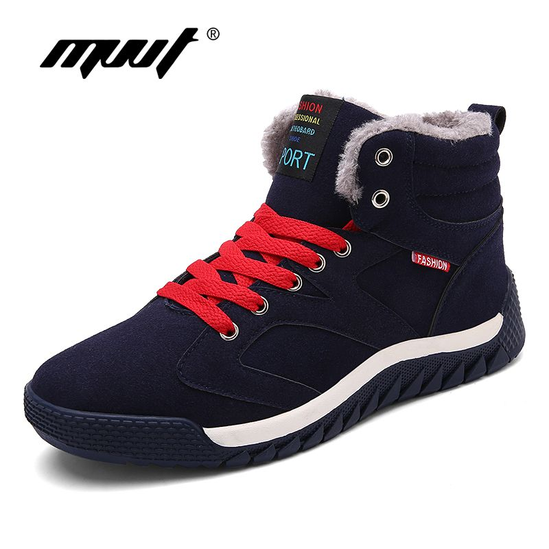 MVVT Super Warm Winter Boots Men Snow Boots With Fur Keep Warm Platform Men Winter Snow Shoes Waterproof Ankle boots