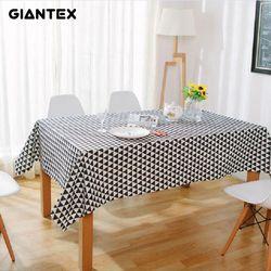 Giantex Taplak Meja Katun Linen Taplak Meja Persegi Taplak Meja Meja Makan Penutup Obrus Tafelkleed Mantel Mesa Nappe U1002
