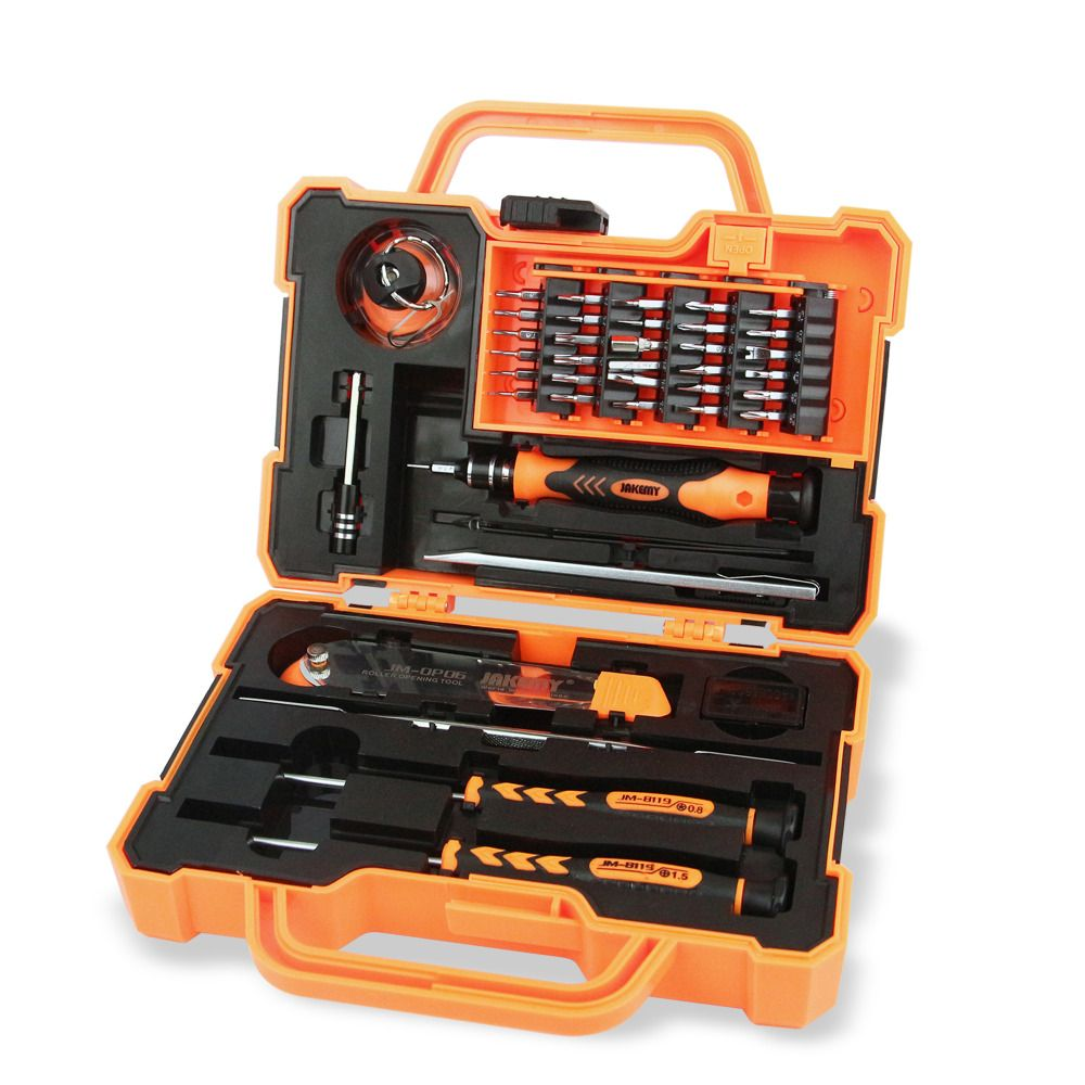 JAKEMY JM-8139 Professional Electronic Precision Screwdriver Set Hand Tool Box Set Opening Tools for Phone PC Repair Tools Kit
