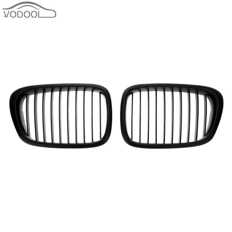 1 Pair Matt Black Auto Car Kidney Front Grille Racing Grill for BMW E39 518 520 523 525 528 530 1999-2003
