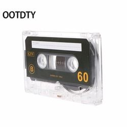 OOTDTY Standard Cassette Blank Tape Player Empty Tape With 60 Minutes Magnetic Audio Tape Recording For Speech Music Recording