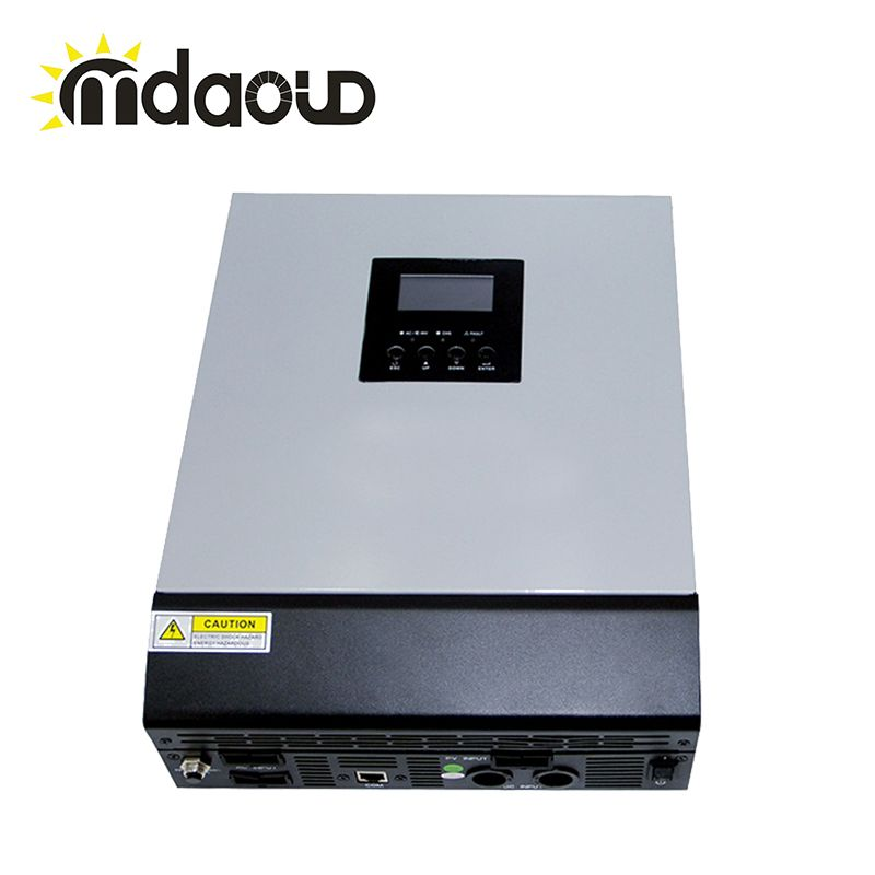 Mppt off-grid hybrid solar power inverter 3kva 60A 2400w DC 24V to 220V with solar charge controller