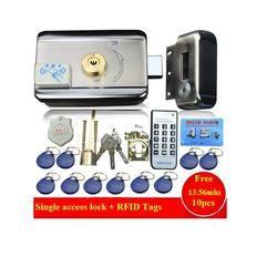 Шт. 10 шт. бирки двери и ворота замок система контроля доступа электронный интегрированный RFID дверной обод замок w/1000 пользователей RFID считыв...