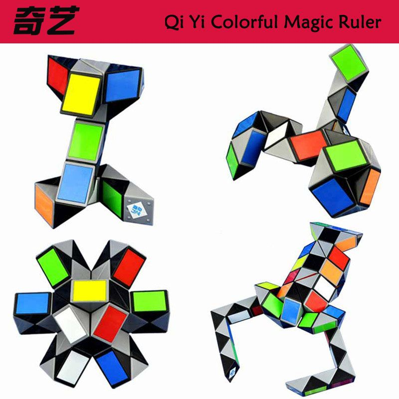 Qiyi 3D Colorful Magic Ruler 24/36/48/72 Segments Snake Twist Cube Puzzle Kid Educational Toy for Children -45