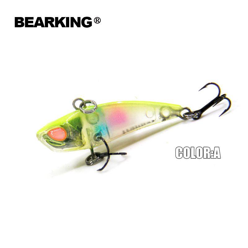 Bearking A + angeln lockt, harten köder, vib (lip weniger) 40mm 3,8g, sinking, gute qualität köder, 3D augen, vmc haken 2017 heißer modell
