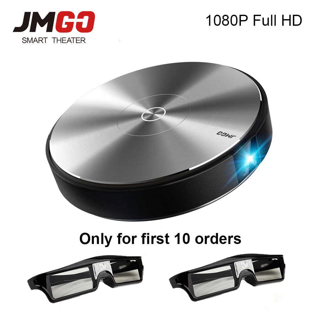 JmGO N7L Full HD Projetor 1980*1080P Home Theater,2G+16G,700 ANSI Lumens,300 inch,HDMI,USB,Bluetooth Android WIFI Support 4K 3D