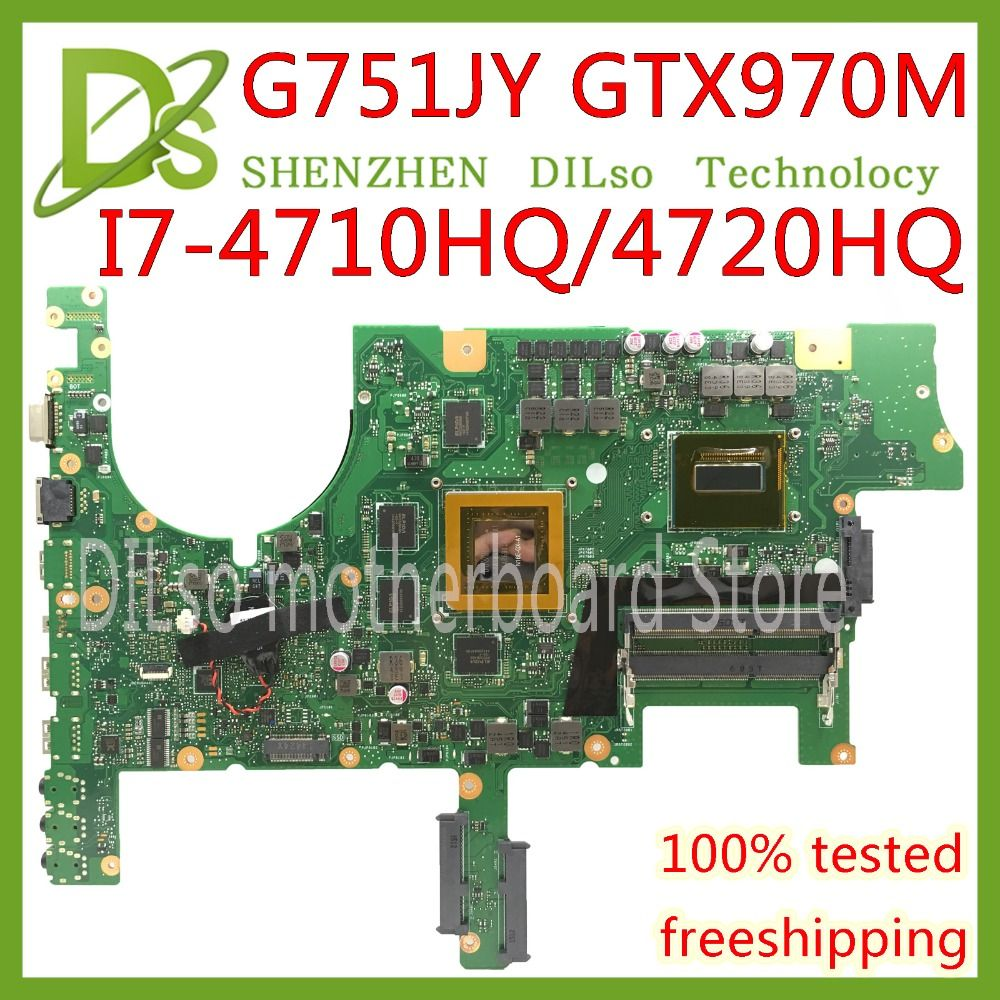 KEFU G751JT For ASUS G751J REV2.5 G751JY I7-4720HQ/I7-4710HQ GTX970M video card Laptop Motherboard Test 100% ORIGINAL
