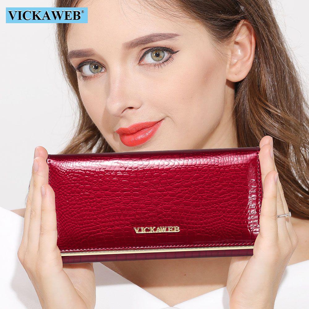 Femmes portefeuilles conception de marque de haute qualité en cuir portefeuille femme moraillon mode Dollar prix Alligator Long femmes portefeuilles et sacs à main
