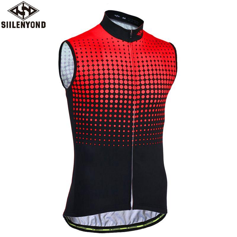 SIILENYOND Vandalin Quick Dry Sleeveless Cycling Jersey Mountain Bicycle Clothing Ropa <font><b>Bicicleta</b></font> Maillot Ciclismo Cycling Vests