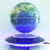 6 pulgadas levitación magnética Electronic flotante Globos terráqueos mundo Mapas con luces LED inicio Oficina de decoración de negocios regalo nuevo