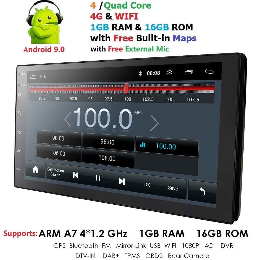 2 Din autoradio Android 9.0 universel GPS Navigation Bluetooth écran tactile Wifi voiture Audio stéréo FM USB voiture multimédia SWC OBD2