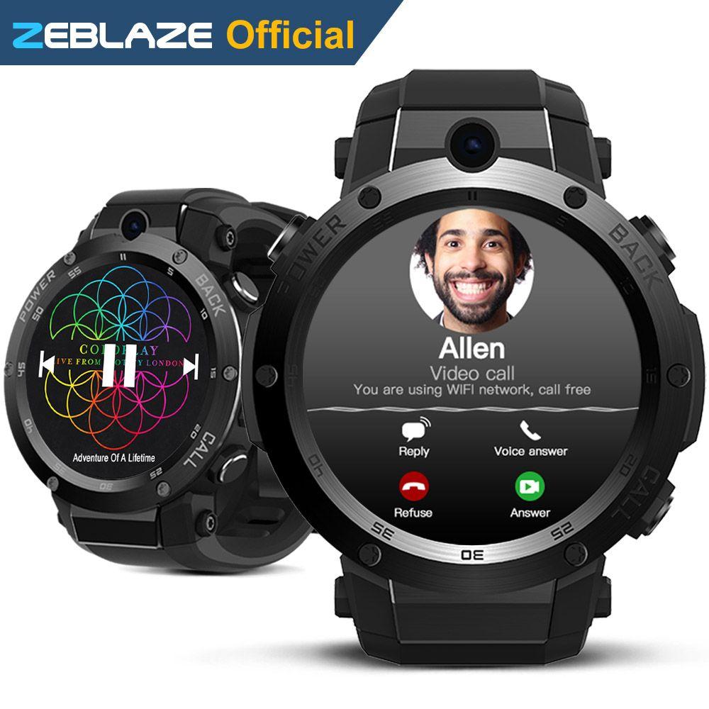 Новый zeblaze Тор s 3 г GPS SmartWatch 1.39 дюйма Android 5.1 MTK6580 1.0 ГГц 1 ГБ + 16 ГБ смарт часы BT 4.0 Беспроводные устройства