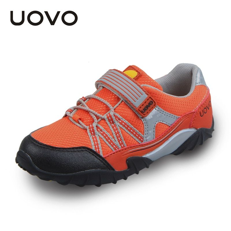 UOVO Spring Autumn Kids Shoes Sport Shoes Boys Running Shoes Hook And Loop Toddler Boy Shoes Breathable Casual Sneakers 26#-35#