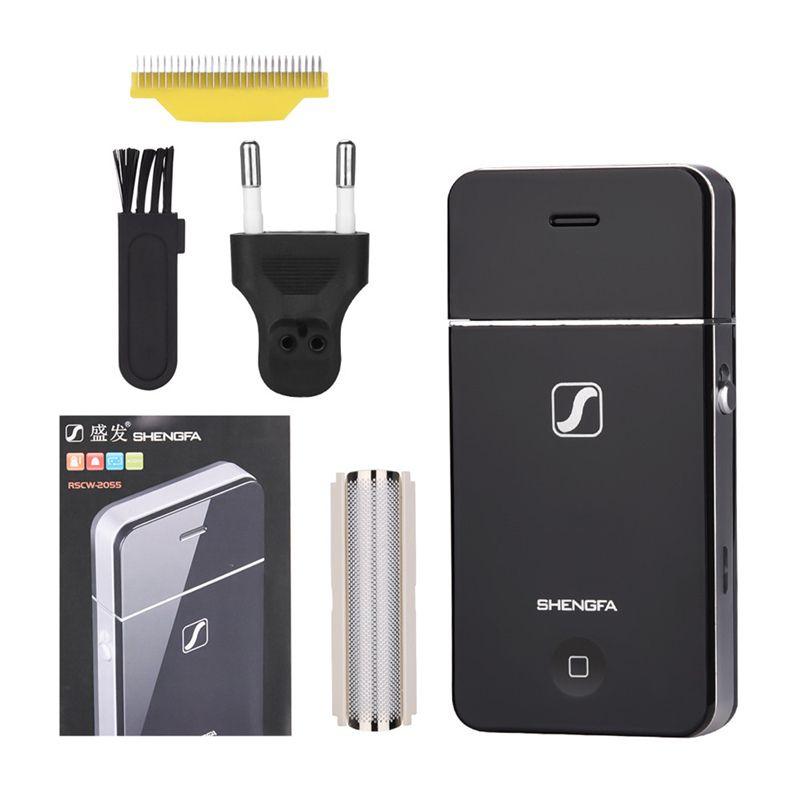 Mini hommes rasoir électrique Rechargeable en acier inoxydable alternatif lame unique rasoir soins du visage tondeuse à barbe en gros S44