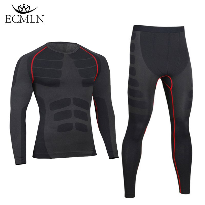 2017 Winter Thermal Underwear Sets Men Brand Quick Dry Anti-microbial Stretch Men's Thermo Underwear Male Warm men long johns