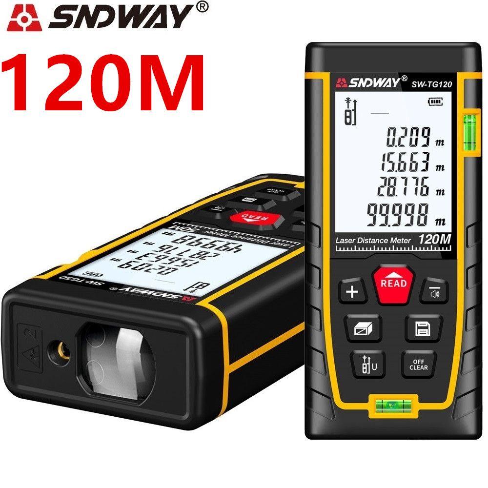 SNDWAY laser distance meter Laser rangefinder 40M 50M 70M 120M laser range finder Tape Roulette Diastimeter trena ruler Measure