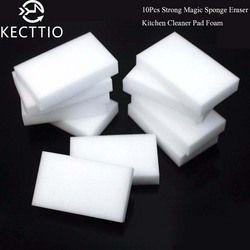 10Pcs Melamine Sponge Magic Sponge Eraser Melamine Cleaner Eco-Friendly White Kitchen Magic Eraser 10*6*2cm Hot Sale