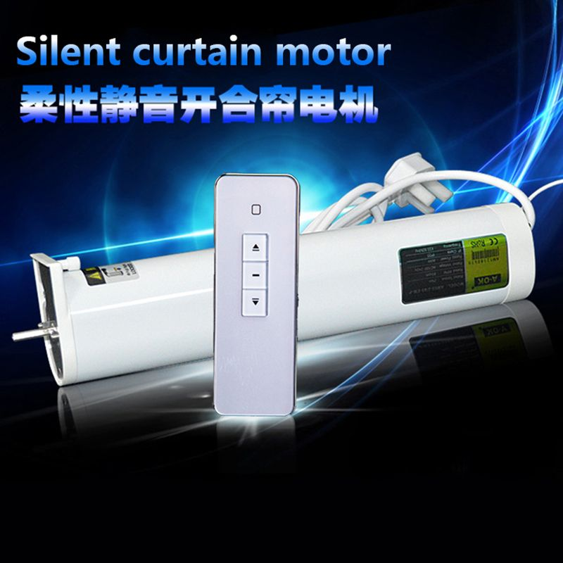 Silent Electric curtain blinds, 5.0m-7.0m size customized,90/135 degree acceptable, App and Android control