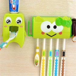 Li yimeng multifuncional Cartoon cepillo de dientes titular almacenamiento organizador caja accesorios de baño ganchos de succión dispensador de pasta