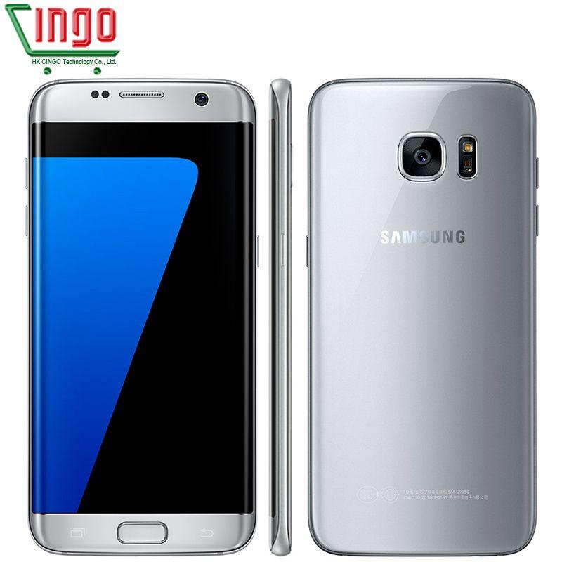 Samsung Galaxy S7 Rand 5,5 ''4GB RAM 32 gb ROM Wasserdichte Smartphone One SIM Quad Core NFC 12MP 4g LTE 3600 mah Handy