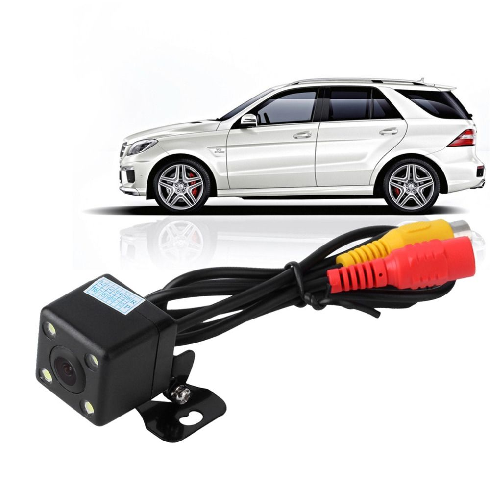Hot Car Rear View Camera Waterproof 170 Degree HD CCD 4 LED Night Vision Night Parking Assistance Auto Accessories Car Styling