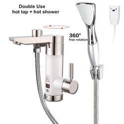 Instantanée chauffe-eau du robinet électrique sans réservoir chauffage chaude en continu pour salle de bains douche cuisine évier robinet mélangeur Asie plug