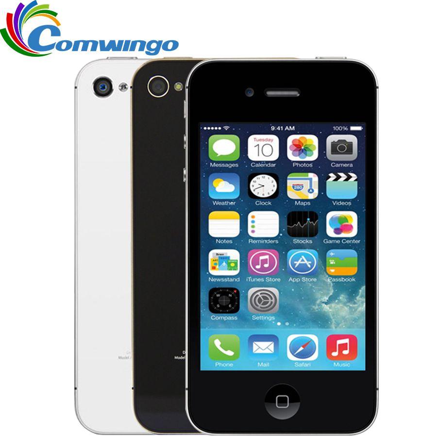 Unlocked Apple iPhone 4S phone 8GB/16GB /32GB ROM White Black iOS GPS WiFi GPRS Free Gift Free shipping  iphone4s  mobile phone