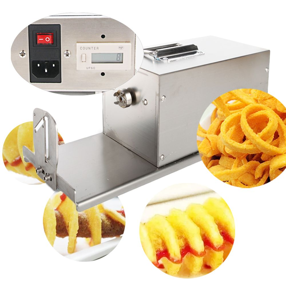4pcs Electric Twisted Potato Slicer