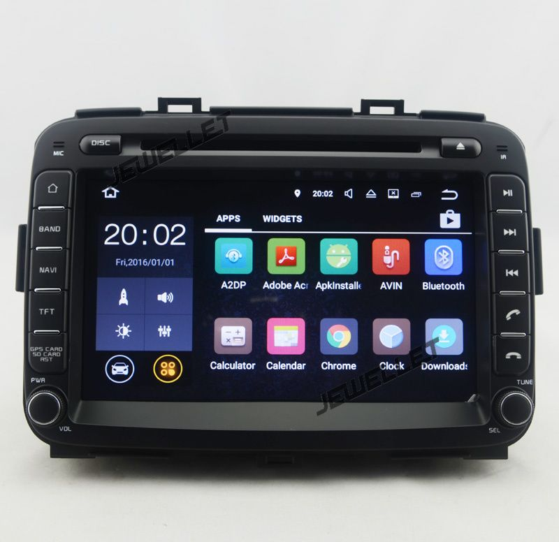 Octa core 1024*600 HD screen Android 8.0 Car DVD GPS radio Navigation for Kia Carens Rondo 2013-2016 with 4G/Wifi DVR OBD 1080P