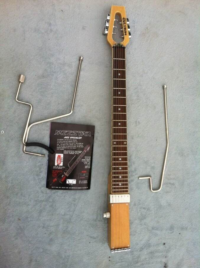 Free shipping MiniStar JazzStar Jazz Travel Guitar Built in Headphone Amp electric guitar