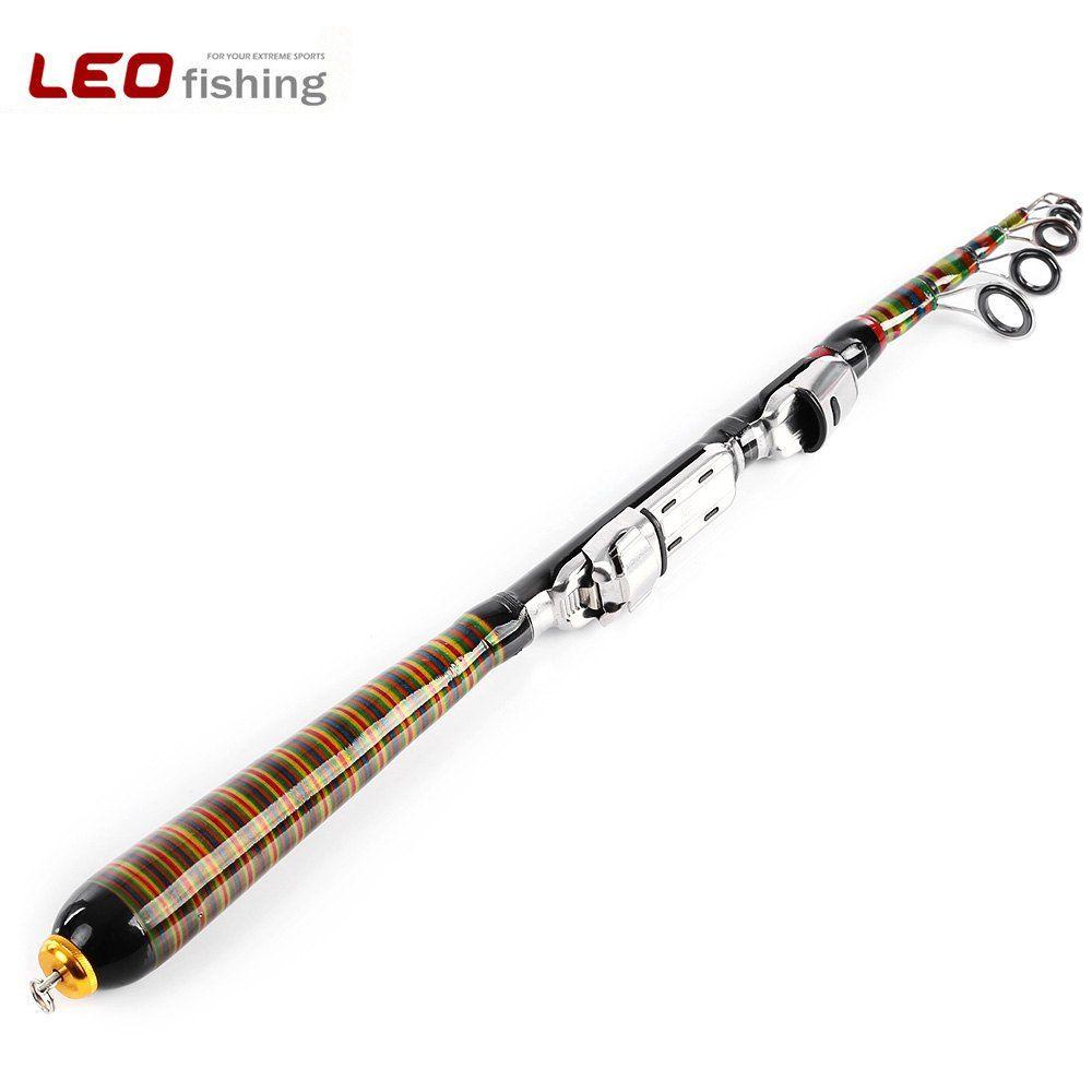 LEO Heißer Qualität Kohlefaser Angelrute Tragbare Multifunktionale Angelrute Mini Locken Fisch Bekämpfen 1,2 mt 1.5m1.8m 2,1 mt